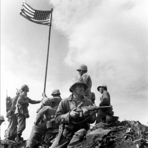 The First Flag.  Photo by Marine Sgt. Louis Lowery