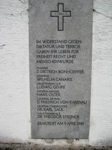 Memorial Plaque at KZ Flossenburg