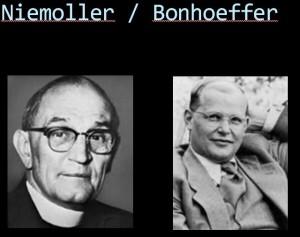 Niemoller Bonhoeffer