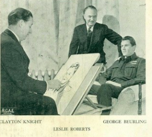 Clayton Knight (L) was a well known Illustrator during his life
