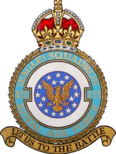 RAF Eagle Squadron Emblem with an American Eagle